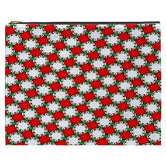 Christmas Star Red Green Cosmetic Bag (xxxl)  by Alisyart