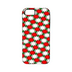 Christmas Star Red Green Apple Iphone 5 Classic Hardshell Case (pc+silicone)