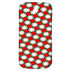 Christmas Star Red Green Samsung Galaxy S3 S Iii Classic Hardshell Back Case by Alisyart
