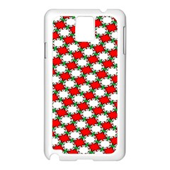 Christmas Star Red Green Samsung Galaxy Note 3 N9005 Case (white)