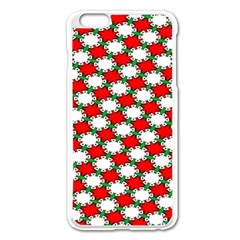 Christmas Star Red Green Apple Iphone 6 Plus/6s Plus Enamel White Case by Alisyart