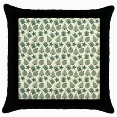 Christmas Pattern Gif Star Tree Happy Throw Pillow Case (black)