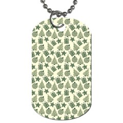 Christmas Pattern Gif Star Tree Happy Dog Tag (one Side)
