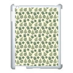 Christmas Pattern Gif Star Tree Happy Apple Ipad 3/4 Case (white)