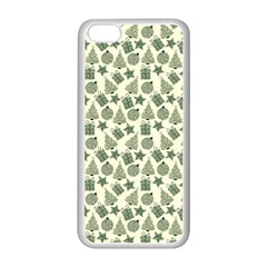 Christmas Pattern Gif Star Tree Happy Apple Iphone 5c Seamless Case (white) by Alisyart
