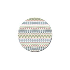 Christmas Star Flower Red Blue Golf Ball Marker (4 Pack) by Alisyart