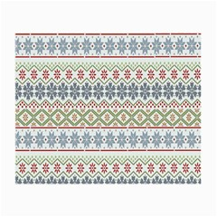 Christmas Star Flower Red Blue Small Glasses Cloth (2 Side) by Alisyart