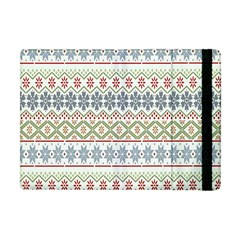 Christmas Star Flower Red Blue Apple Ipad Mini Flip Case by Alisyart