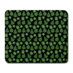 Christmas Pattern Gif Star Tree Happy Green Large Mousepads by Alisyart