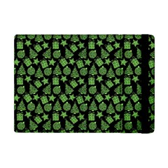 Christmas Pattern Gif Star Tree Happy Green Apple Ipad Mini Flip Case