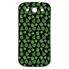 Christmas Pattern Gif Star Tree Happy Green Samsung Galaxy S3 S Iii Classic Hardshell Back Case