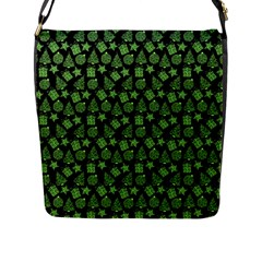 Christmas Pattern Gif Star Tree Happy Green Flap Messenger Bag (l)  by Alisyart