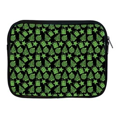 Christmas Pattern Gif Star Tree Happy Green Apple Ipad 2/3/4 Zipper Cases by Alisyart