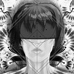 Beautiful Bnw Fractal Feathers For Major Motoko Canvas 16  X 16   by jayaprime