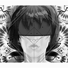 Beautiful Bnw Fractal Feathers For Major Motoko Canvas 20  X 24   by jayaprime