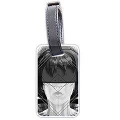 Beautiful Bnw Fractal Feathers For Major Motoko Luggage Tags (one Side)  by jayaprime