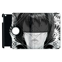 Beautiful Bnw Fractal Feathers For Major Motoko Apple Ipad 3/4 Flip 360 Case by jayaprime