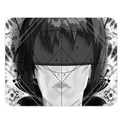 Beautiful Bnw Fractal Feathers For Major Motoko Double Sided Flano Blanket (large)  by jayaprime