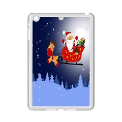 Deer Santa Claus Flying Trees Moon Night Merry Christmas Ipad Mini 2 Enamel Coated Cases