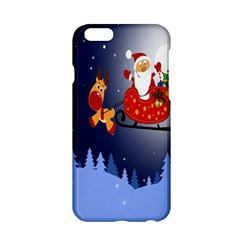 Deer Santa Claus Flying Trees Moon Night Merry Christmas Apple Iphone 6/6s Hardshell Case by Alisyart