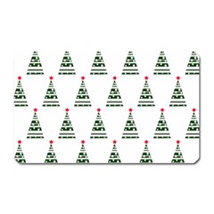 Christmas Tree Green Star Red Magnet (rectangular)