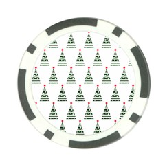 Christmas Tree Green Star Red Poker Chip Card Guard