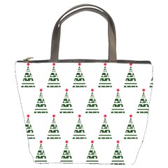 Christmas Tree Green Star Red Bucket Bags