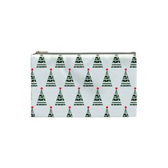 Christmas Tree Green Star Red Cosmetic Bag (small)  by Alisyart