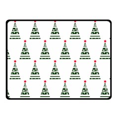 Christmas Tree Green Star Red Fleece Blanket (small)