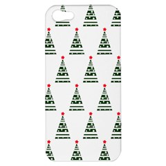 Christmas Tree Green Star Red Apple Iphone 5 Hardshell Case by Alisyart