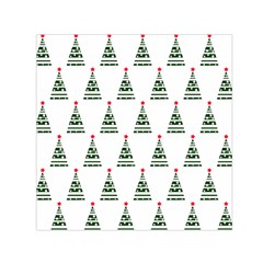 Christmas Tree Green Star Red Small Satin Scarf (square)