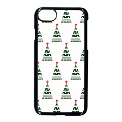 Christmas Tree Green Star Red Apple Iphone 8 Seamless Case (black)