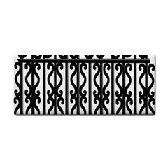 Inspirative Iron Gate Fence Grey Black Cosmetic Storage Cases by Alisyart