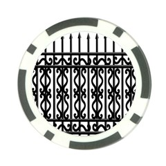 Inspirative Iron Gate Fence Grey Black Poker Chip Card Guard (10 Pack)
