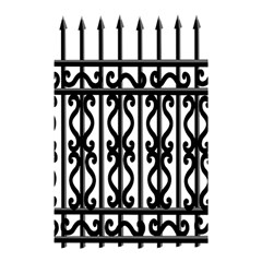 Inspirative Iron Gate Fence Grey Black Shower Curtain 48  X 72  (small)