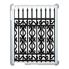 Inspirative Iron Gate Fence Grey Black Apple Ipad 3/4 Case (white) by Alisyart