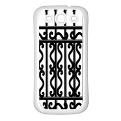 Inspirative Iron Gate Fence Grey Black Samsung Galaxy S3 Back Case (white)