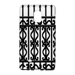 Inspirative Iron Gate Fence Grey Black Galaxy Note Edge