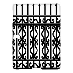 Inspirative Iron Gate Fence Grey Black Samsung Galaxy Tab S (10 5 ) Hardshell Case