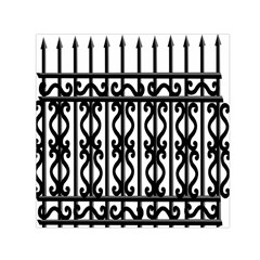 Inspirative Iron Gate Fence Grey Black Small Satin Scarf (square)