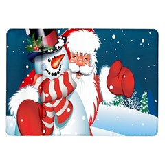 Hello Merry Christmas Santa Claus Snow Blue Sky Samsung Galaxy Tab 10 1  P7500 Flip Case
