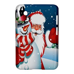 Hello Merry Christmas Santa Claus Snow Blue Sky Samsung Galaxy Tab 2 (7 ) P3100 Hardshell Case  by Alisyart