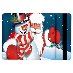 Hello Merry Christmas Santa Claus Snow Blue Sky Ipad Air 2 Flip by Alisyart