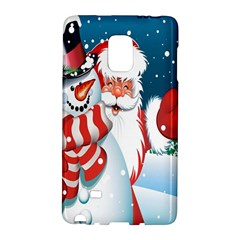 Hello Merry Christmas Santa Claus Snow Blue Sky Galaxy Note Edge by Alisyart