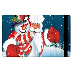 Hello Merry Christmas Santa Claus Snow Blue Sky Apple Ipad Pro 9 7   Flip Case by Alisyart