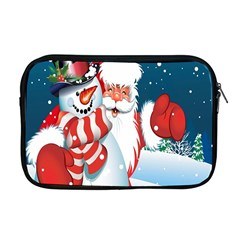 Hello Merry Christmas Santa Claus Snow Blue Sky Apple Macbook Pro 17  Zipper Case by Alisyart