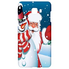 Hello Merry Christmas Santa Claus Snow Blue Sky Samsung C9 Pro Hardshell Case  by Alisyart