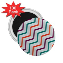 Line Color Rainbow 2 25  Magnets (100 Pack)