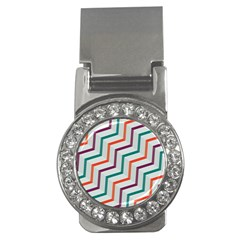 Line Color Rainbow Money Clips (cz)