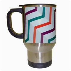 Line Color Rainbow Travel Mugs (white)